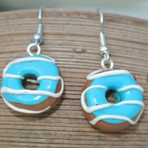 Waikiki Earrings Donuts Blue