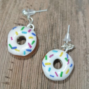 Waikiki Earrings Donuts in White