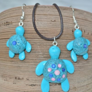Waikiki Earrings Turtle Blue